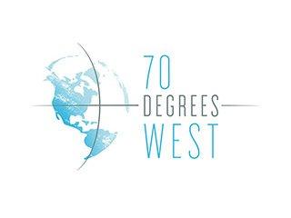 70 Degrees West Logo Design