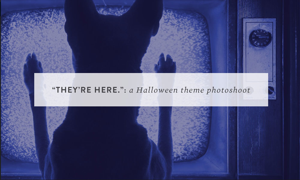 """""""They're here.""""- a Halloween theme photoshoot"""