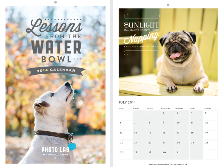The calendar measures 11x17 inches, carefully printed on great quality FSC Certified paper.